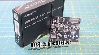 QICENT USB 3.1 Type-C & Type-A 2-Port PCI Express Card PU31 Unboxing, Overview, Installation
