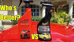 Meguiar's Ultimate Spray Wax VS Mother's Speed Spray Wax Comparison Review!