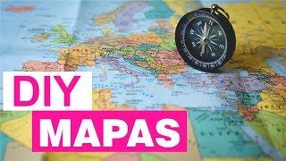 Decoração com Mapas – ideias Fáceis e Baratas