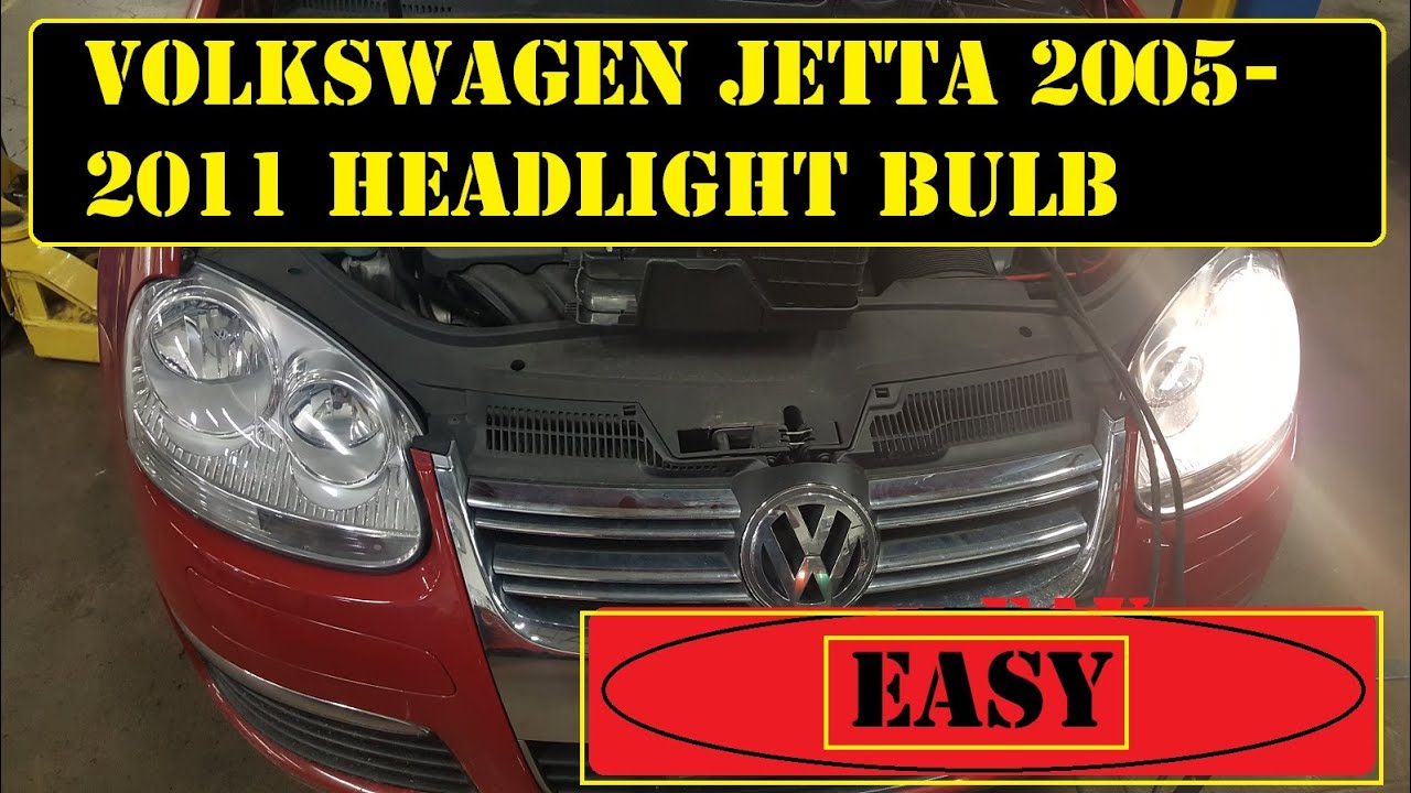2005 To 2017 Volkswagen Jetta Headlight Bulb Replacement