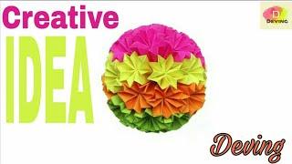 Creative Idea flower paper [Deving]