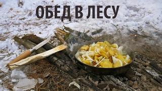 КАРТОШКА НА САЛЕ С ЛУКОМ  / ОБЕД В ЛЕСУ