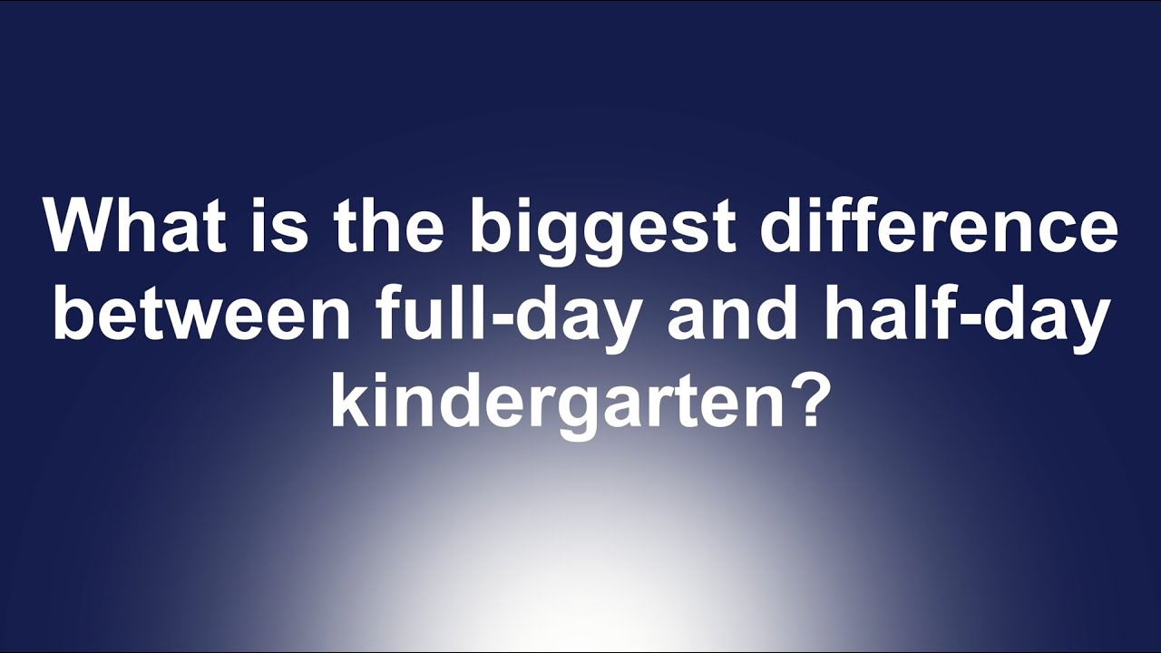 full day vs half day kindergarten essay Kindergarten comparison essay by patrick james  the long-term educational effects of half-day vs full-day kindergarten early childhood development and care.