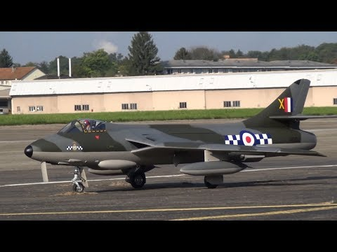 Scale RC Jet  Hawker Hunter and  BAE Hawk Turbine Model Jet flight  2017