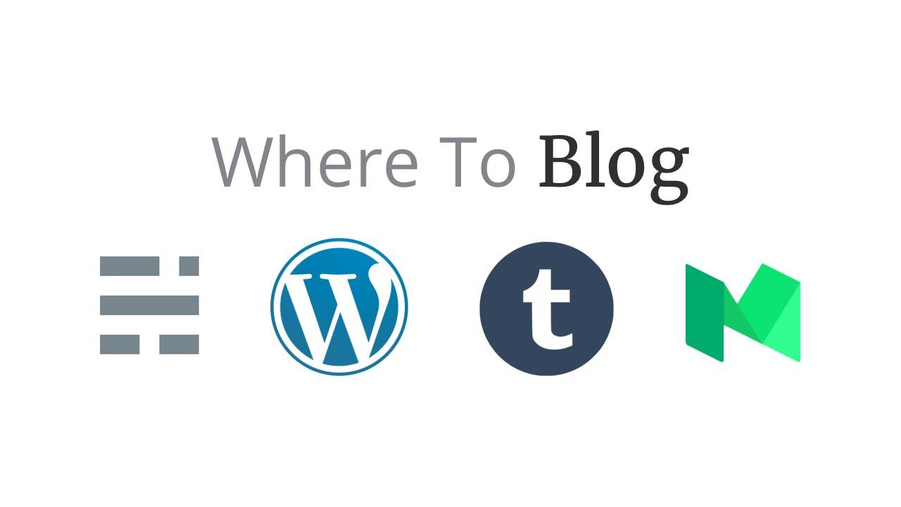 Where to blog - Ghost, Wordpress, Medium or Tumblr - YouTube