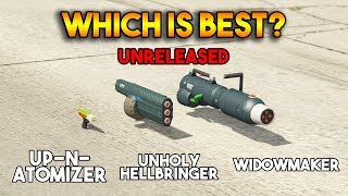 GTA 5 ONLINE : UP-N-ATOMIZER VS UNHOLY HELLBRINGER VS WIDOWMAKER (WHICH IS BEST?)