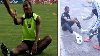 I tried the Ronaldinho Crossbar challenge