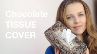 CHOCOLATE TISSUE COVER - KNITTING | BarbaraNalewko