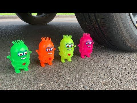 Watermelon Juice, Coca cola, Fanta, Sprite vs Mentos | Top 25 Crushing Crunchy & Soft Things by Car