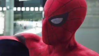 new spider man scene in captain america civil war