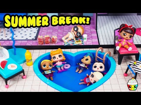 LOL Summer Break Mcdonalds Pool Party Leather Loses His Money