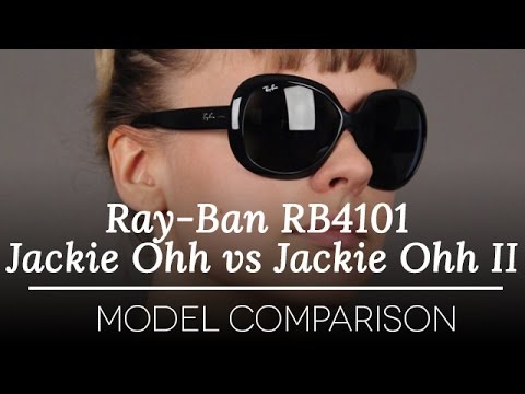 32db51a27df Ray Ban RB4101 Jackie Ohh vs Jackie Ohh II Sunglasses - YouTube