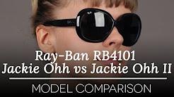 Ray Ban RB4101 Jackie Ohh vs Jackie Ohh II Sunglasses