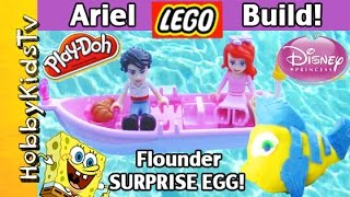 Little Mermaid Ariel LEGO Build and Play-Doh SURPRISE EGG