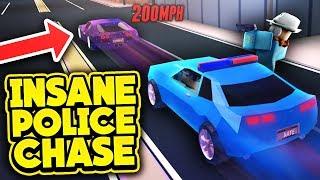 INSANE POLICE CHASE! (ROBLOX Jailbreak)