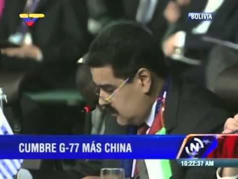 Presidente Nicolás Maduro interviene en Cumbre del G-77 más China en Bolivia