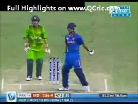 India vs Pakistan Under19 world cup 2012 Quarter final match