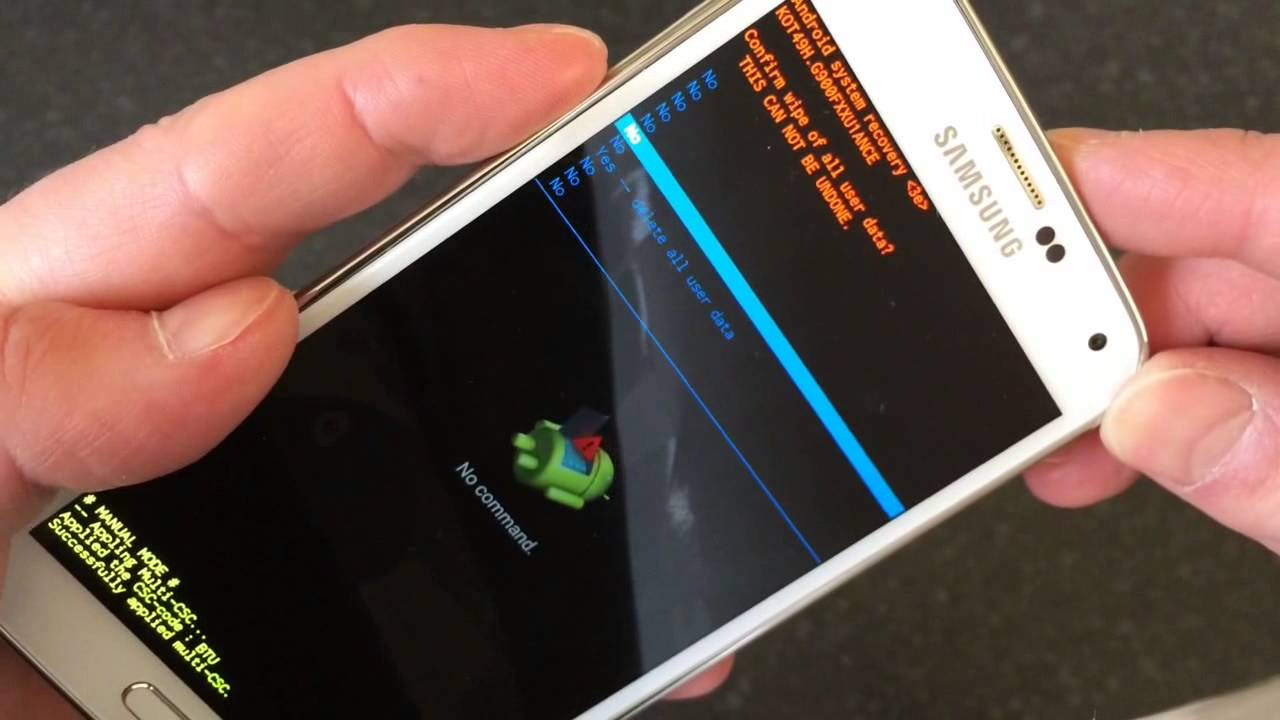 Samsung Galaxy S5 Hard Reset/Remove Passcode