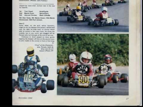 Karting WC 1980 in Nivelles Belgium/ De Bruijn-Senna-Fullerton