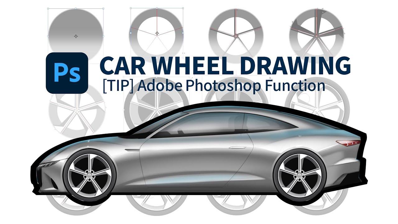 [Tip] Car wheel drawing (Adobe Photoshop function) 자동차 휠 + 사이드 그리기