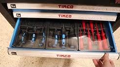 Työkaluvaunu 220-osainen 6 laatikkoa + taustalevy, Timco
