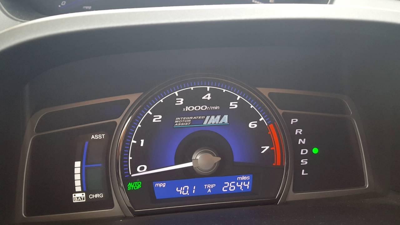 Honda Civic Hybrid Mileage Improvement Update Still About 40 Mpg