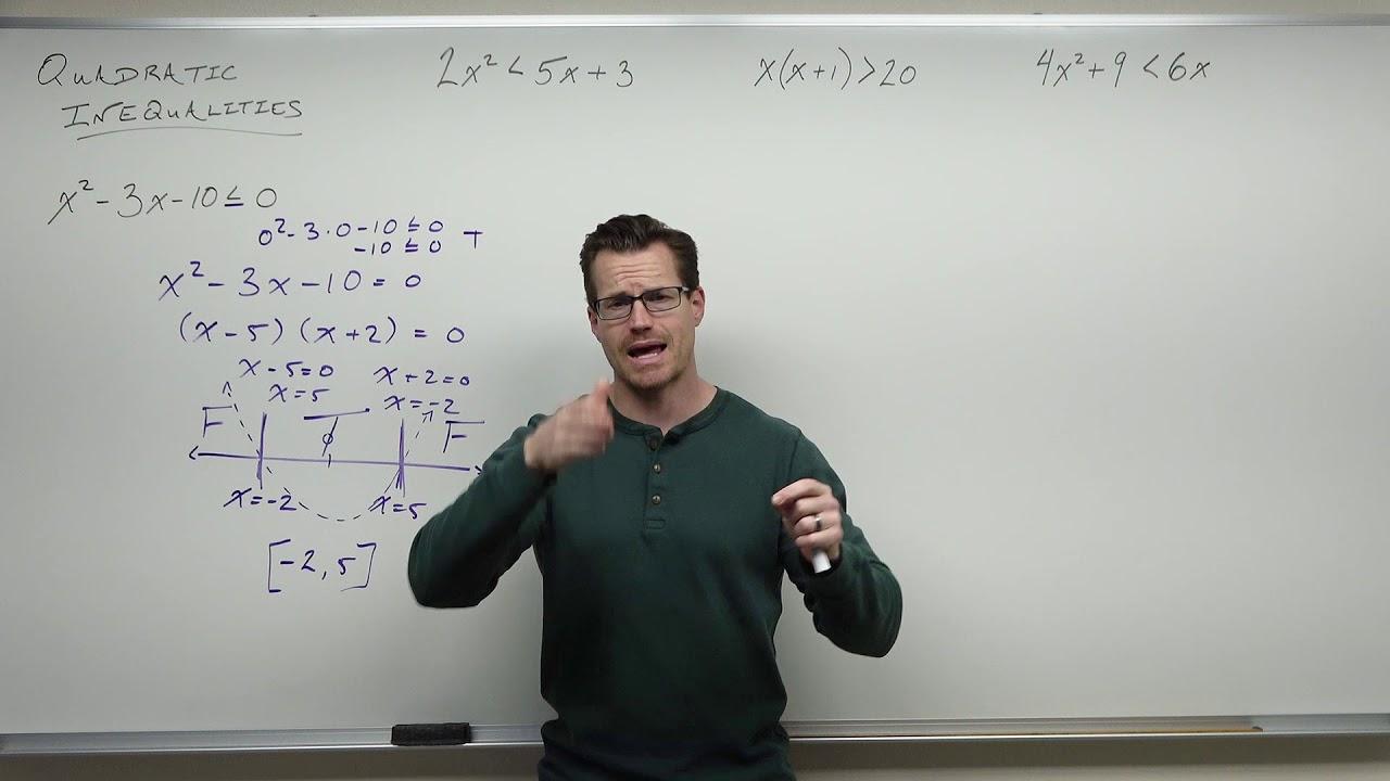 Solving Quadratic Inequalities (Precalculus - College Algebra 25)
