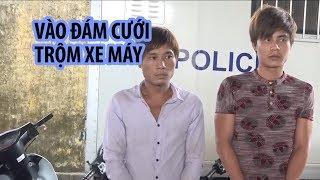 Tóm gọn 2 thanh niên lẩn vào đám cưới trộm xe máy