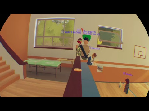 {VR CHAT ON PS4?} REC ROOM part 1