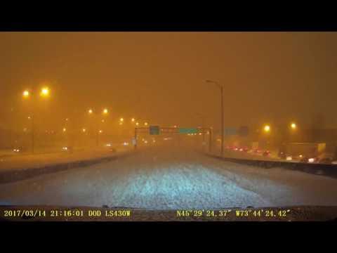 2017 Mar 14 Montreal Quebec Canada Snowstorm Drive Highlights