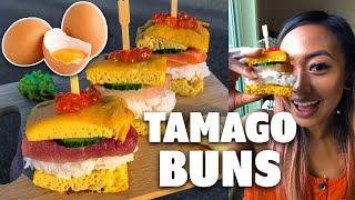 Creating Sushi Sliders with Tamago Buns! || Foodbeast Recipe Challenge