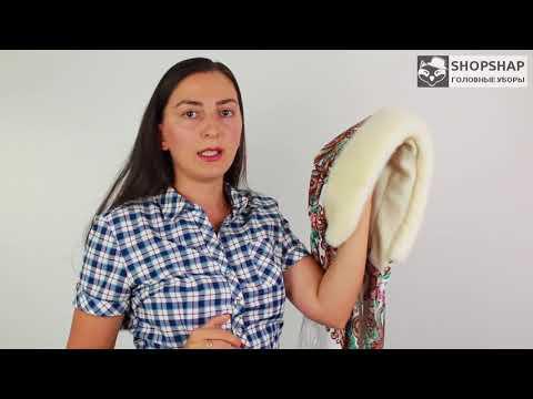 Как сшить платок с мехом на голову своими руками