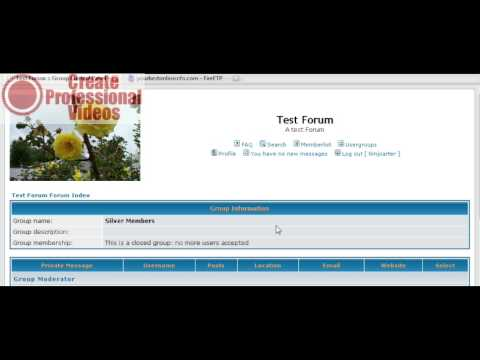 how to create a forum   part 2