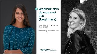 Versio Academy | webinar: aan de slag met SEO (beginners)