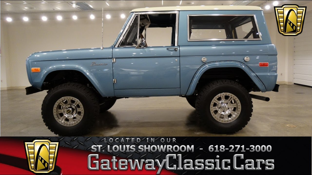 1976 ford bronco gateway classic cars st louis 6546 youtube. Black Bedroom Furniture Sets. Home Design Ideas