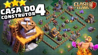 O MELHOR LAYOUT DE CASA DO CONSTRUTOR LEVEL4-CLASH OF CLANS - PUTO Clash