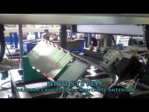 Автоматическая линия для сборки переднего каркаса стремянки