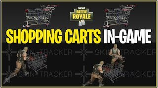 Fortnite : LEAKED SHOPPING CARTS IN-GAME ! (Animations minées par les données)