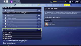 Fortnite Save The World - how to get The Who goes there achievement