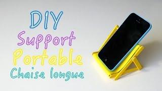 DIY Support pour portable chaise longue