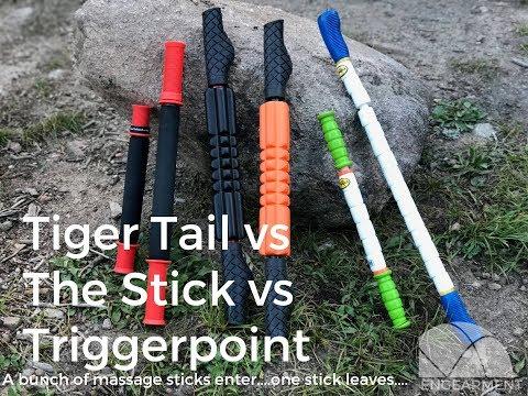 Tiger Tail Vs The Stick Vs TriggerPoint Massage Stick Comparison
