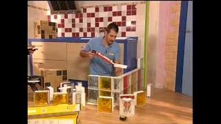 Cómo construir una encimera creada con paves (bloque de vidrio)