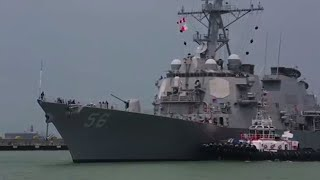 USS John S. McCain at Singapore Naval Base