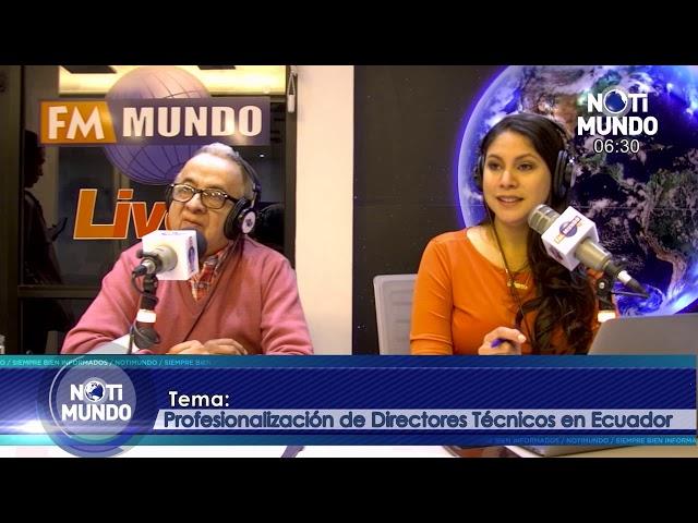 NotiMundo - Pablo Carrera, Profesionalización de directores técnicos en Ecuador