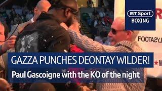 Gazza lands a sweet left hook on Deontay Wilder! 😲