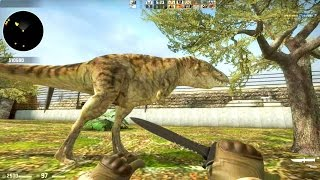 Counter Strike Global Offensive - Zombie Escape mod online gameplay on Jurassic Park Evolved map