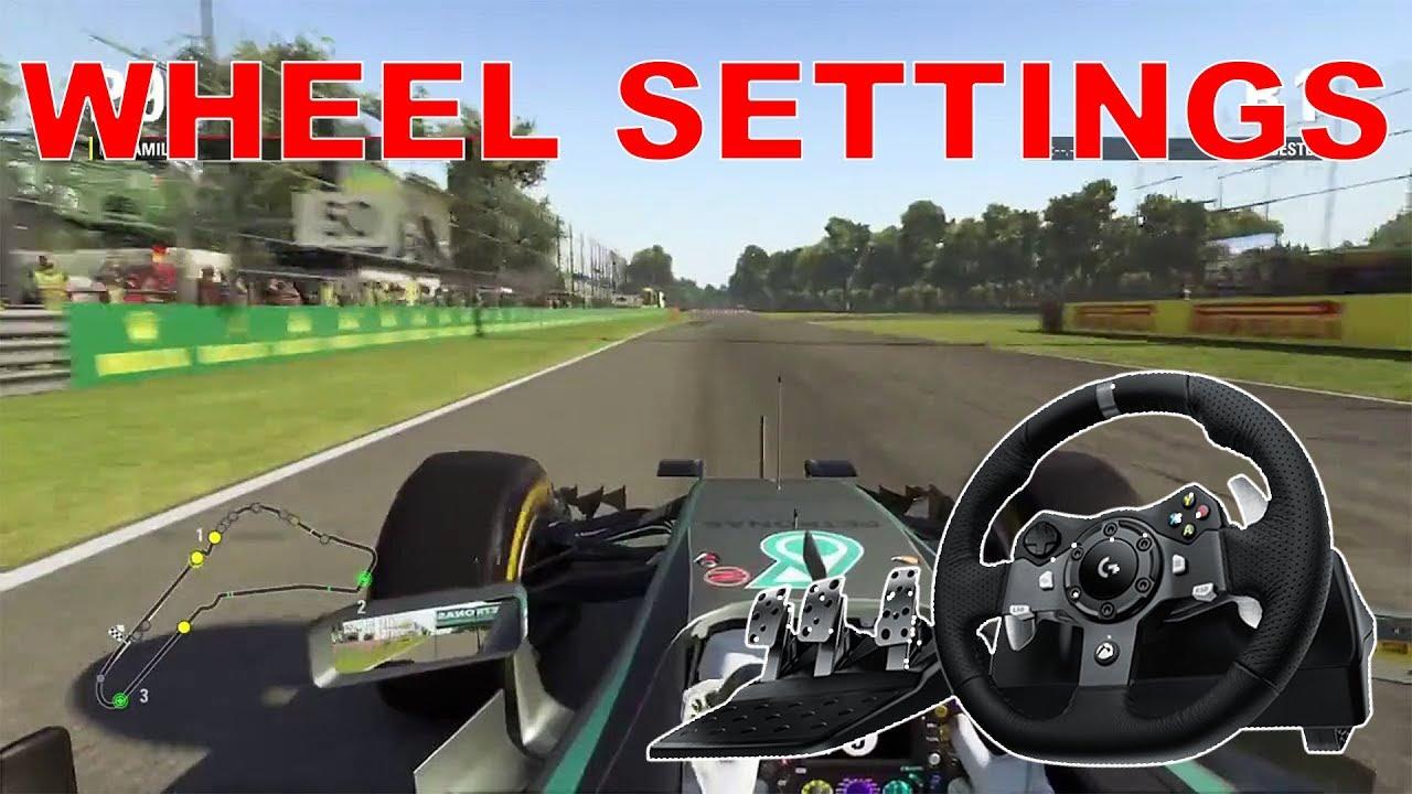F1 2017 WHEEL SETTINGS (Logitech G920)