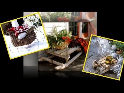 Decorating Old Wooden Christmas Sleds