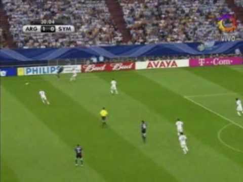 Argentina vs Serbia y Montenegro(alemania 2006) - gol de cambiasso.avi