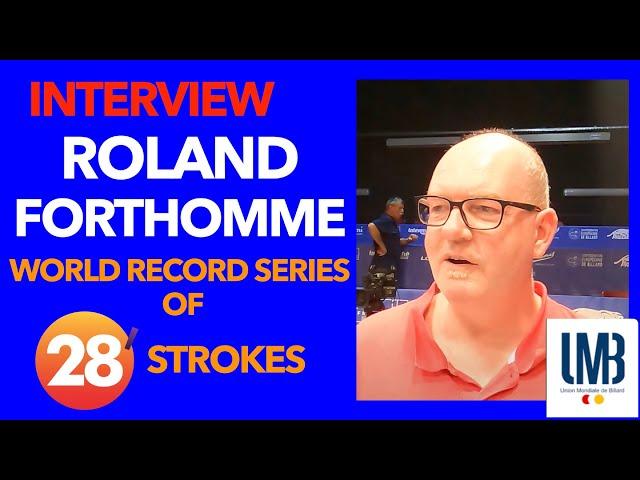 Billard - Interview Roland Forthomme, recordman du monde Série CHALLENGE CUP 3C Kozoom